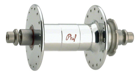 Phil Wood High-Flange Rear Track Hub 32h Polished Silver