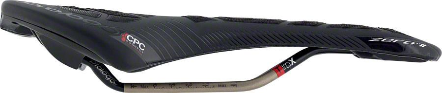Prologo Zero II CPC Saddle, 141mm wide, Ti-Rox alloy rails: Hard Black