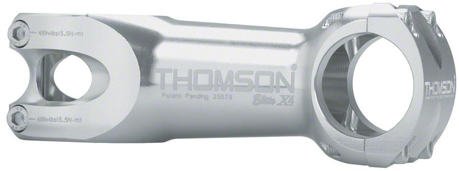 "Thomson Elite X4 Mountain Stem 130mm +/- 0 degree 31.8 1-1/8"" Threadless Silver"