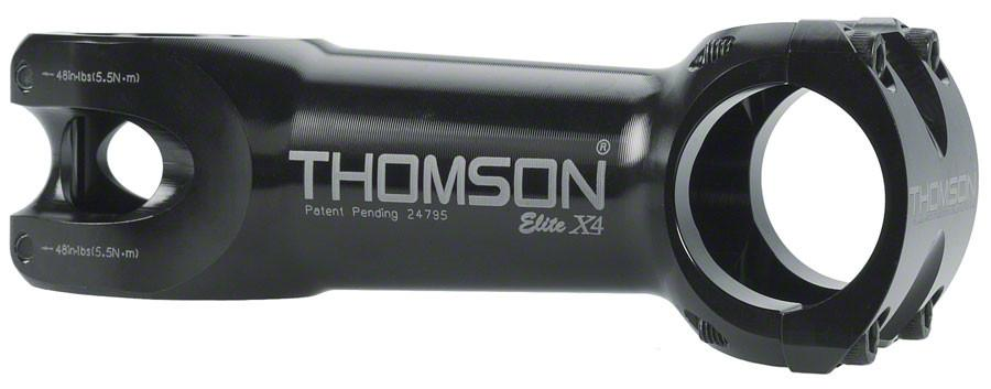 "Thomson Elite X4 Mountain Stem 130mm +/- 10 degree 31.8 1-1/8"" Threadless Black"
