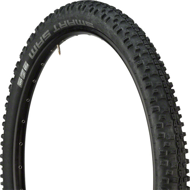 Schwalbe Smart Sam Tire - 27.5 x 2.6, Clincher, Folding, Black, Performance Line, Addix