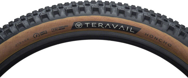 Teravail Honcho Tire - 27.5 x 2.6, Tubeless, Folding, Tan, Light and Supple
