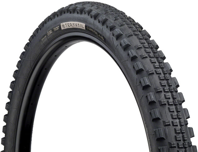 Teravail Cumberland Tire - 27.5 x 2.8, Tubeless, Folding, Black, Durable