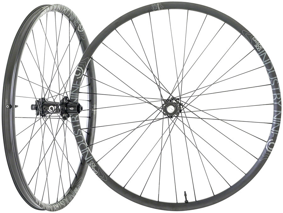 "Industry Nine Grade 300 Wheelset - 27.5"", 20 x 100mm/12 x 157mm, HG 11, 6-Bolt, Black"
