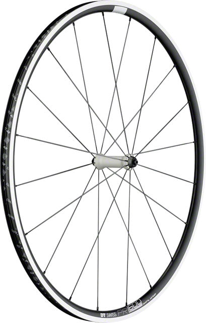 DT Swiss PR 1600 Spline 23 Front Wheel - 700, QR x 100mm, Rim Brake, Black