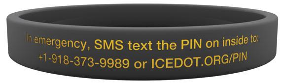 ICEdot Crash ID Sport Band