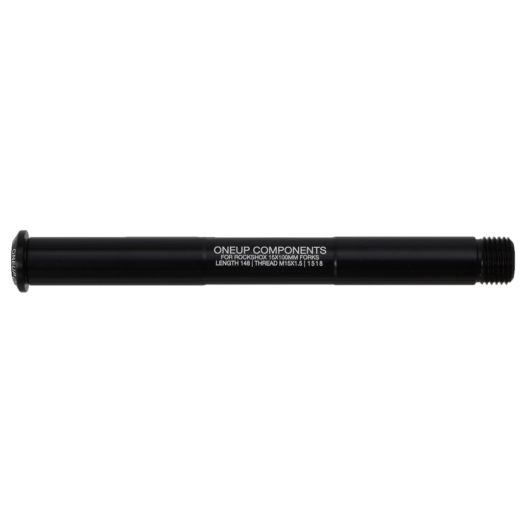 OneUp Components Axle F for RockShox Forks, 15x100mm - Black