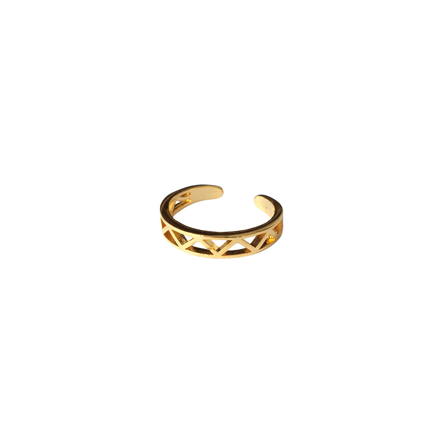 Bague triangles multiples or ajustable ajustable gold triangle cutouts ring