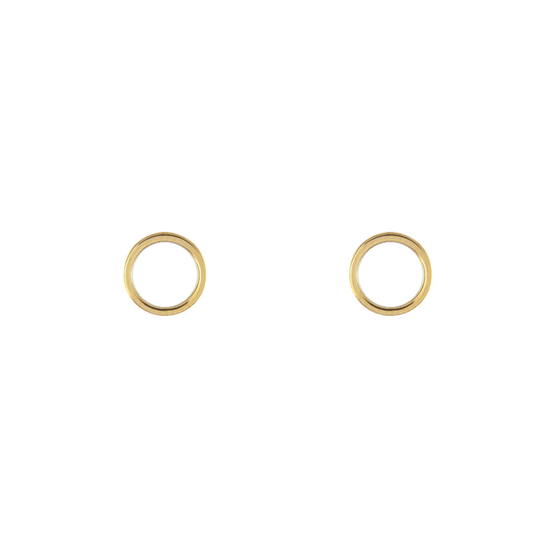 Boucles d'oreilles cercles or gold earrings stud circle