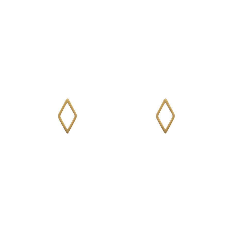 Boucles d'oreilles losange or gold diamond-shaped stud earrings