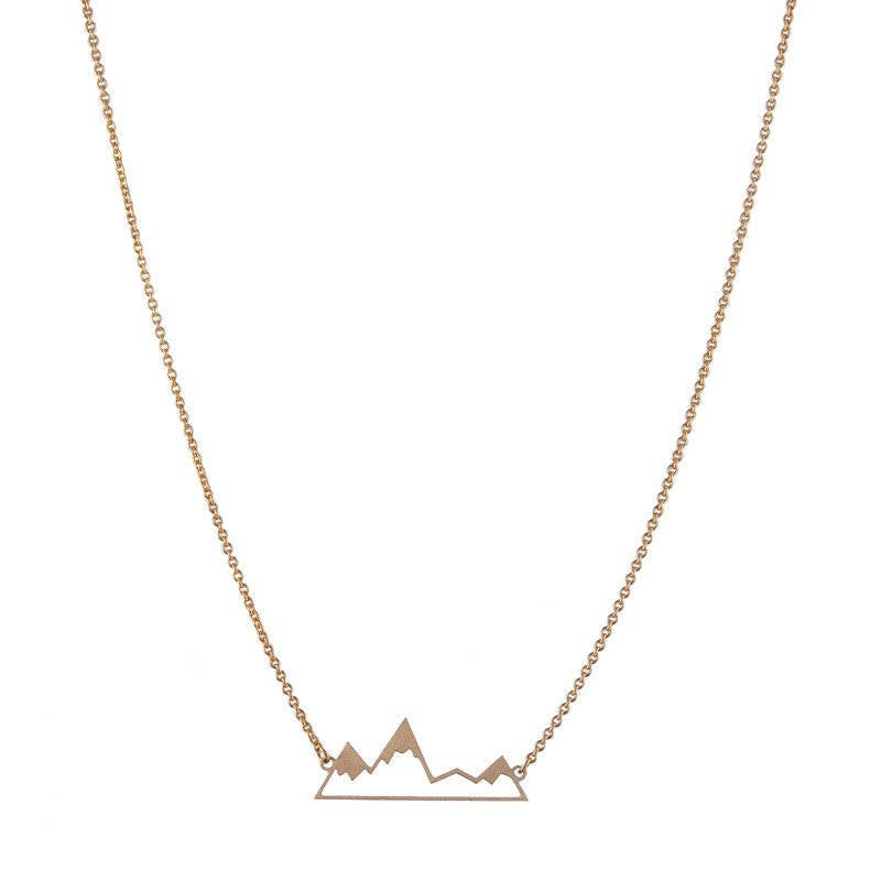 Collier montagne or gold Mountain necklace