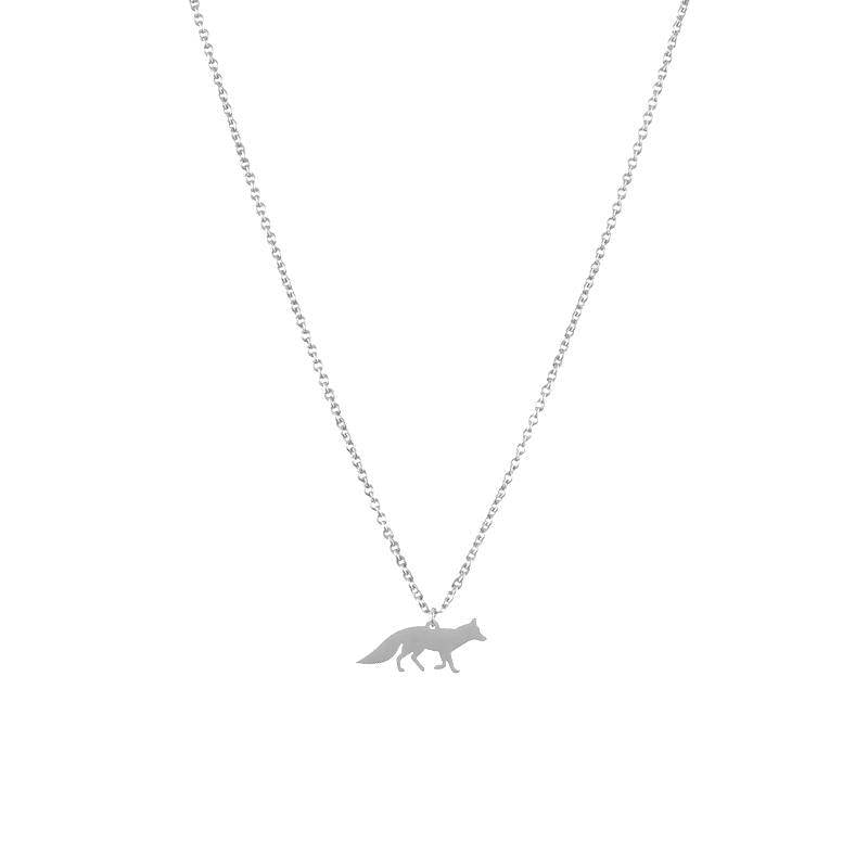 Collier renard argent silver fox necklace