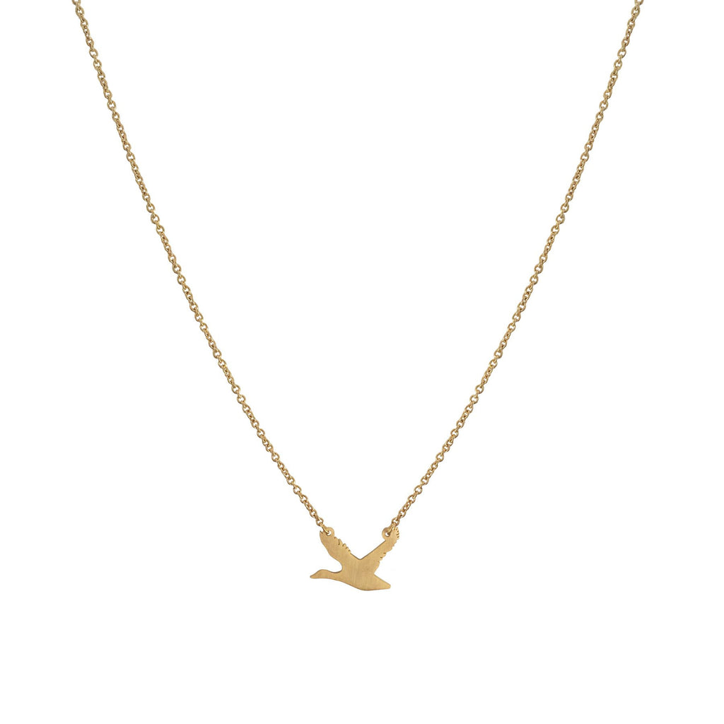 Collier Bernache or gold goose necklace