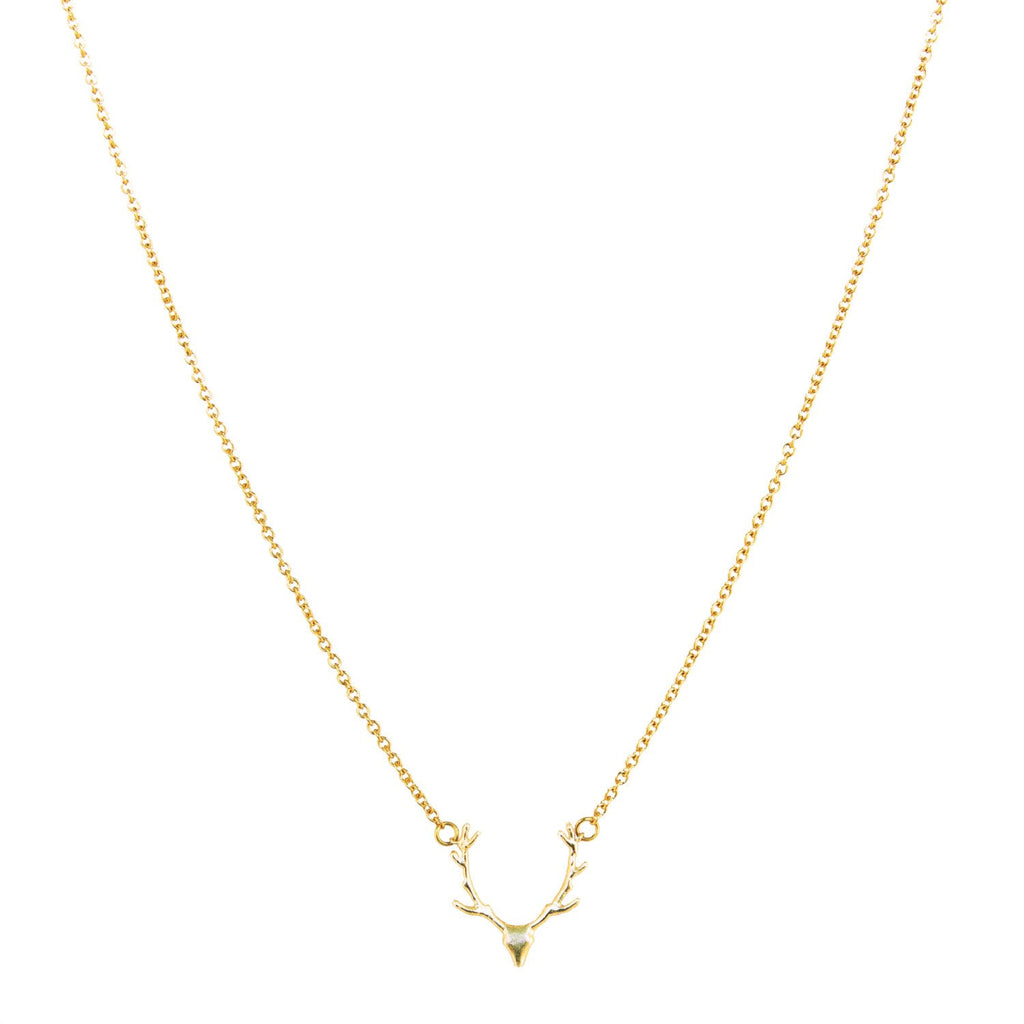 collier panache or gold deer necklace