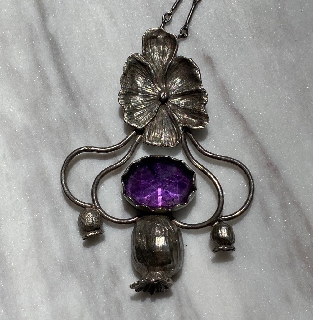 Poppy Speaks to Night Amethyst Pendant July Special Release