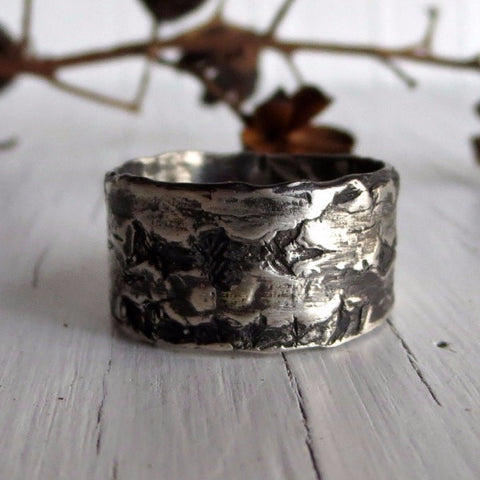Birch Bark Ring Band