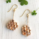 earrings-honeycomb-gold-bronze