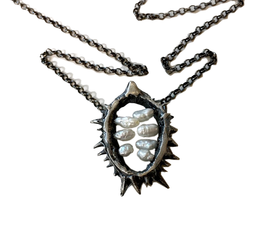 Layaway for E. Wood  7 Deadly Seeds Datura Pod Necklace
