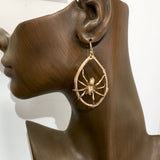 Wolf Spider Earring in Bronze