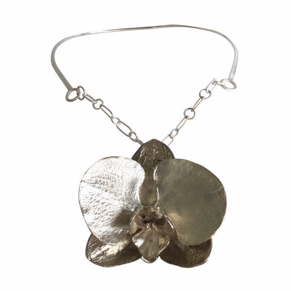 necklace-orchid-silver-flower