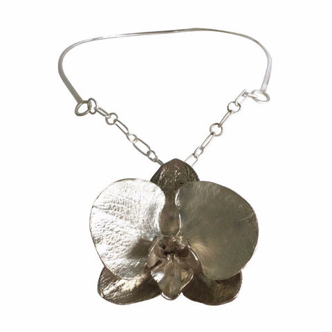 Mammoth Moth Orchid Collar Necklace
