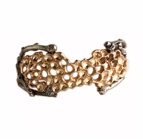Honeycomb Cuff Bracelet - Wild Honey Tree