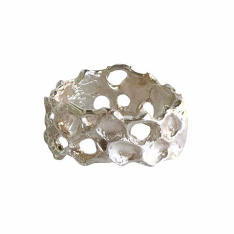 Honeycomb Ring, Sterling Silver