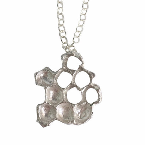 Mini Honeycomb Necklace - Sterling Silver