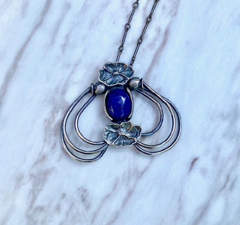 Lapis Poppy Speaks to Night Pendant July Special Release
