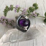 Chase and Scout Jewelry Double Snake Ring in Sterling and Amethyst