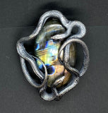 Double Serpent and Spectrolite Pendant - Ready to ship