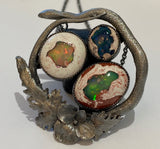 Serpent and Opal Trio Pendant - ready to ship
