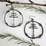 Baphomet Cross Earrings by Chase and Scout