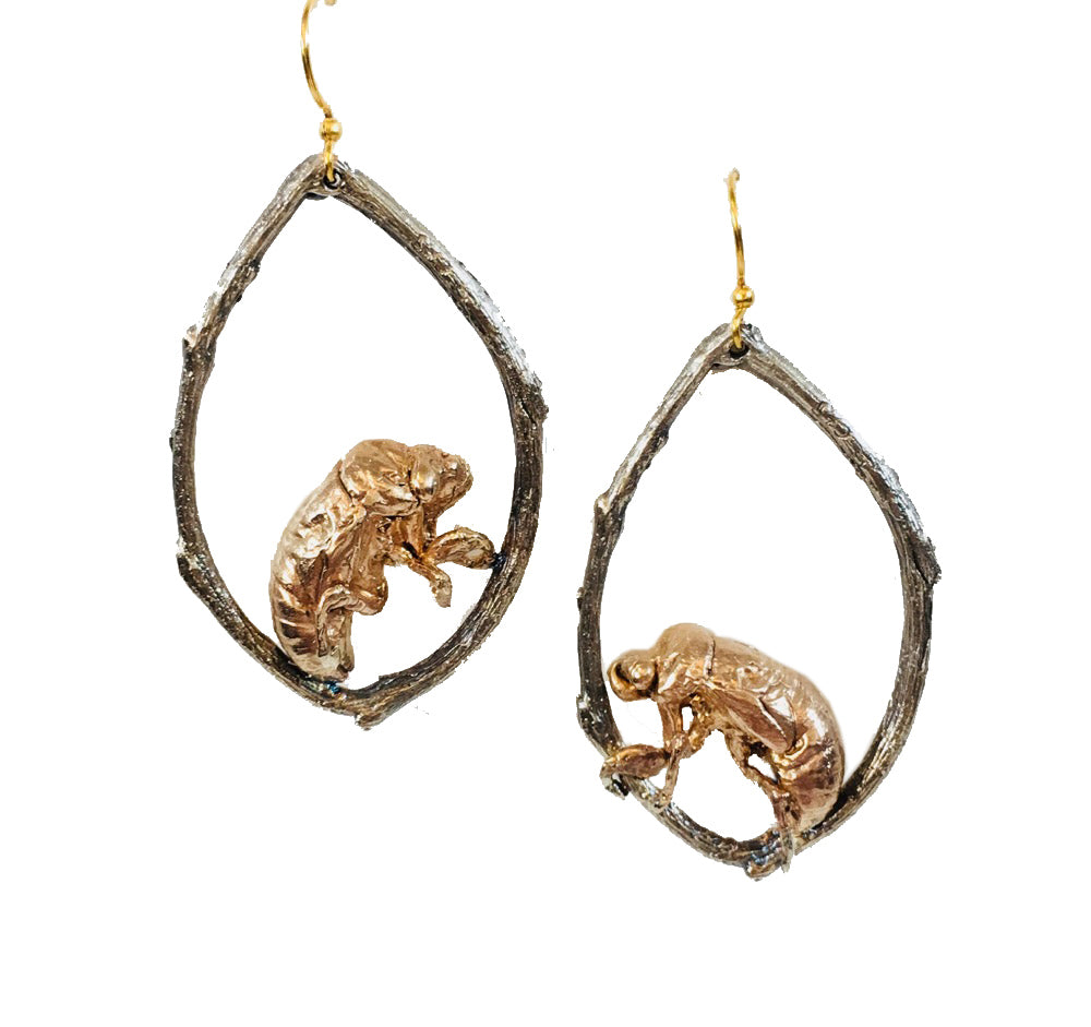 Cicada On The Vine Earrings