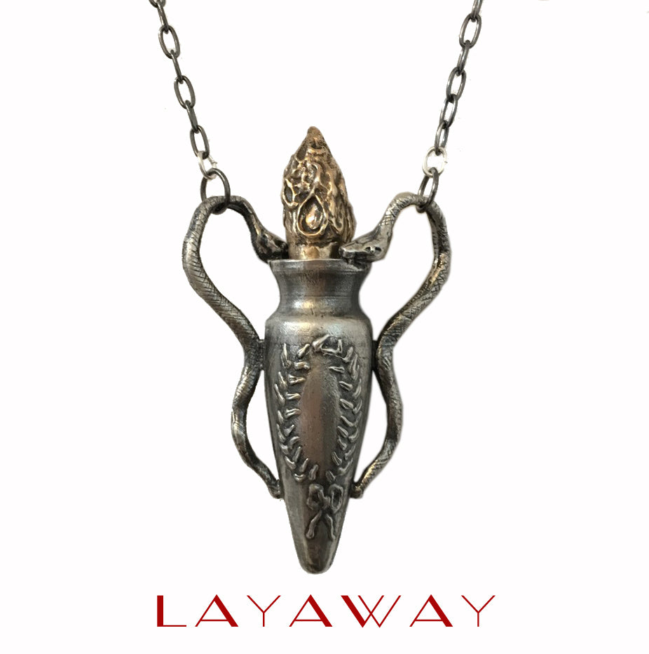 Twin Snake Perfume Flagon - Layaway For UNLOVEABLE 1 of 3