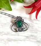 Green Onyx Poppy Speaks to Night Pendant September Special Release