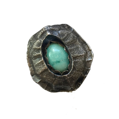 Shadow Box Turtle Ring with Turquoise