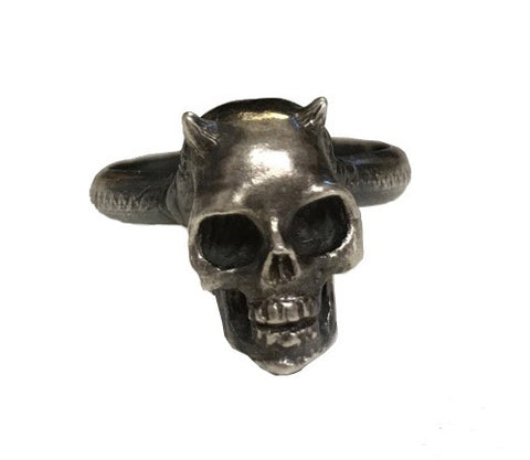 Little Horn Skull Ring