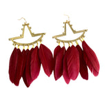 earrings-feathers-bronze