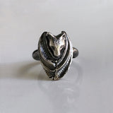 Delicate Sterling Silver Bat Ring