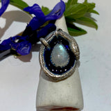 Enamel Orphic Egg Ring Moonstone Size 5 March Special Release