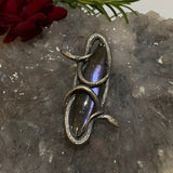 Duality Double Snake Pendant Purple Labradorite March Special Release
