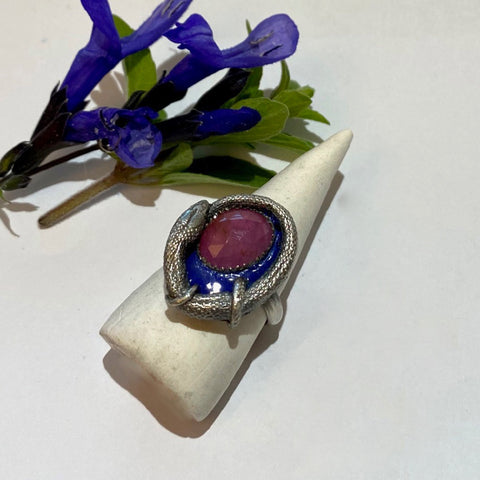 Orphic Egg Ring Size 6.5 Pink Sapphire March Special Release