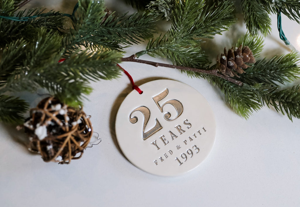 25th Anniversary Gift, 25th Anniversary Ornament, Silver Anniversary, Anniversary Gift, 25th Wedding Anniversary - Gift Boxed