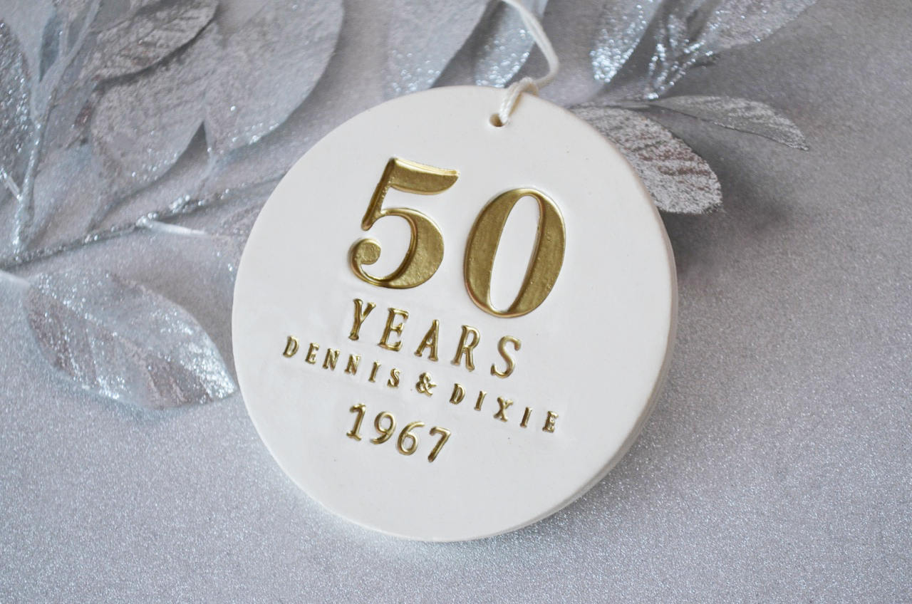 Best Gifts For 50th Wedding Anniversary: 50th Anniversary Gift, Golden Anniversary Gift, 50th