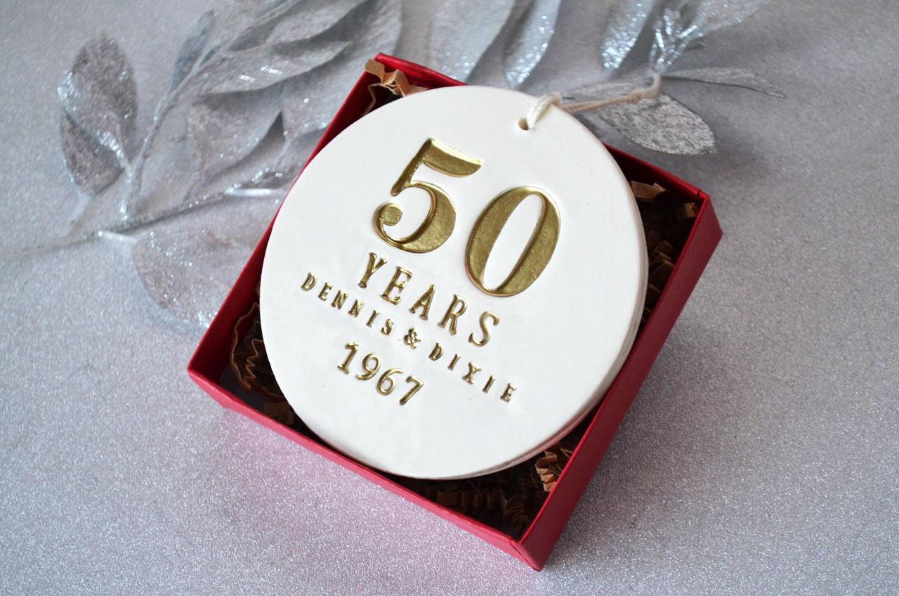 50th Anniversary Gift, Golden Anniversary Gift, 50th Anniversary ...