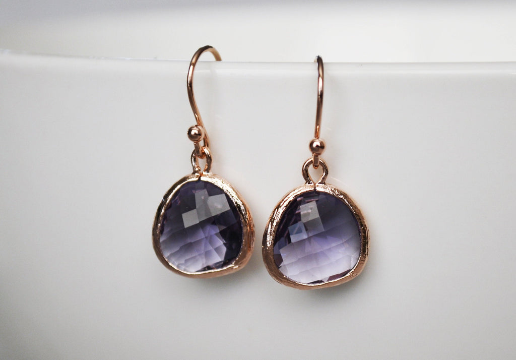 Amethyst Earrings, February Birthstone Gift, February Birthstone Earrings, Amethyst Jewelry Set