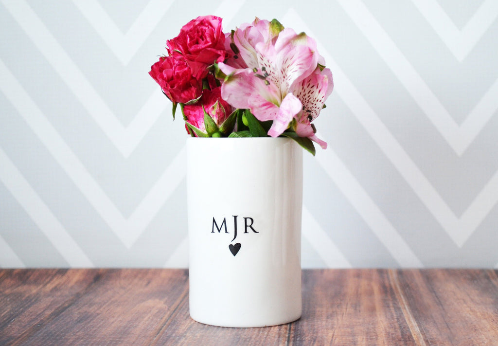 Bridesmaid Gift, Maid of Honor Gift, Matron of Honor Gift, Bridal Party Gift, Monogrammed Bridesmaid Gift - Personalized Vase