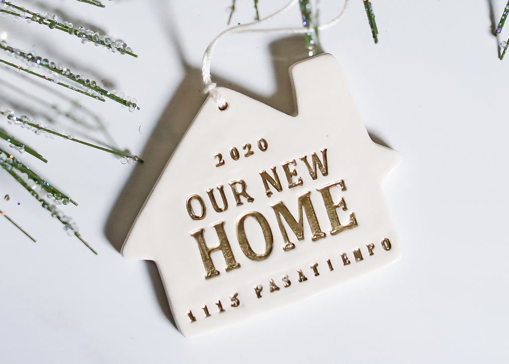 Personalized Christmas Ornament - Our First or Our New Home 2020 - Gift Boxed and Ready to Give
