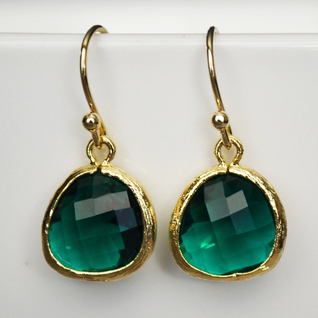 Emerald Earrings, May Birthstone Gift, May Birthstone Earrings, Emerald Jewelry Set